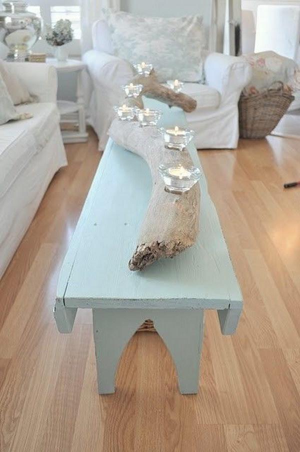 DIY Driftwood Candle Holder