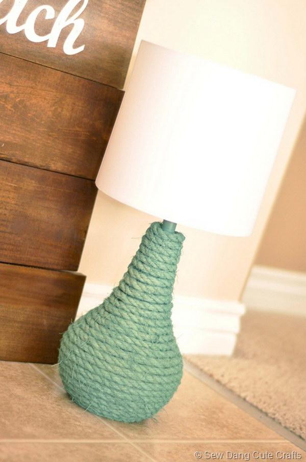 DIY Jaded Rope Lamp Tutorial