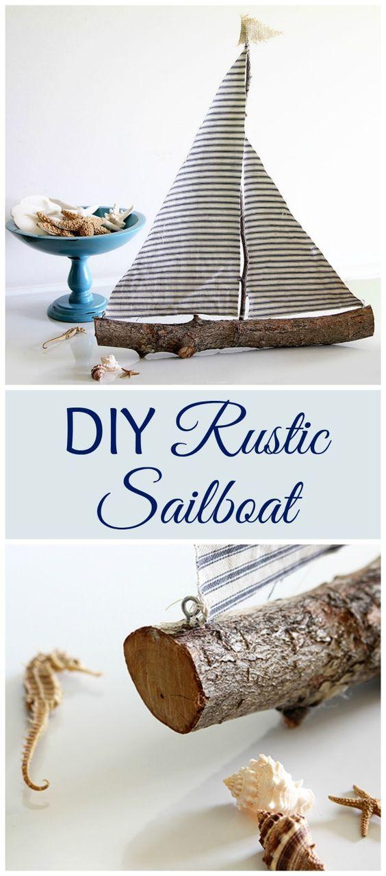 Super Easy DIY Rustic Sailboat.