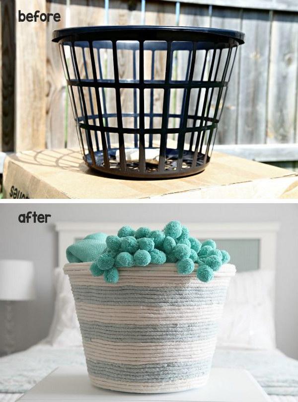 DIY Rope Basket.