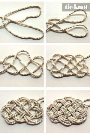 DIY Nautical Rope Necklace.