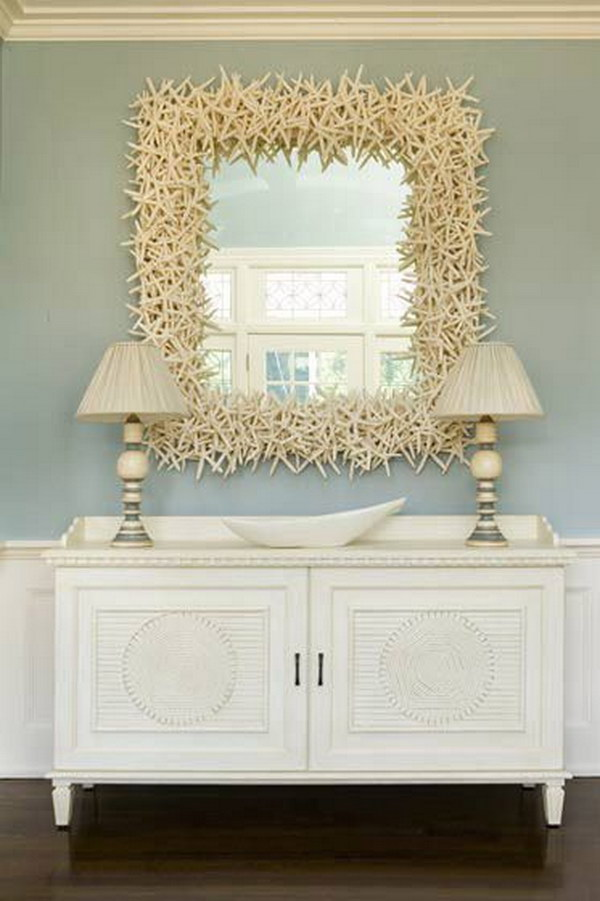 Over-Sized Starfish Decorated Mirror