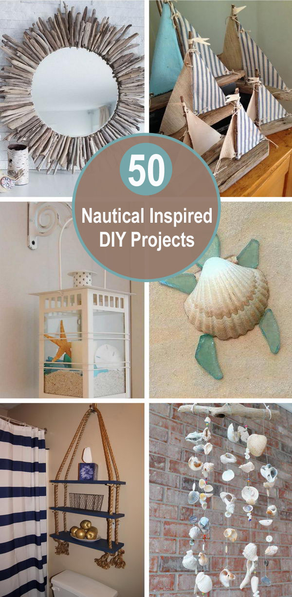 50+ Nautical Inspired DIY Projects.