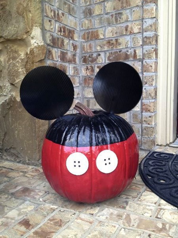 No Carving Mickey Mouse Pumpkin.