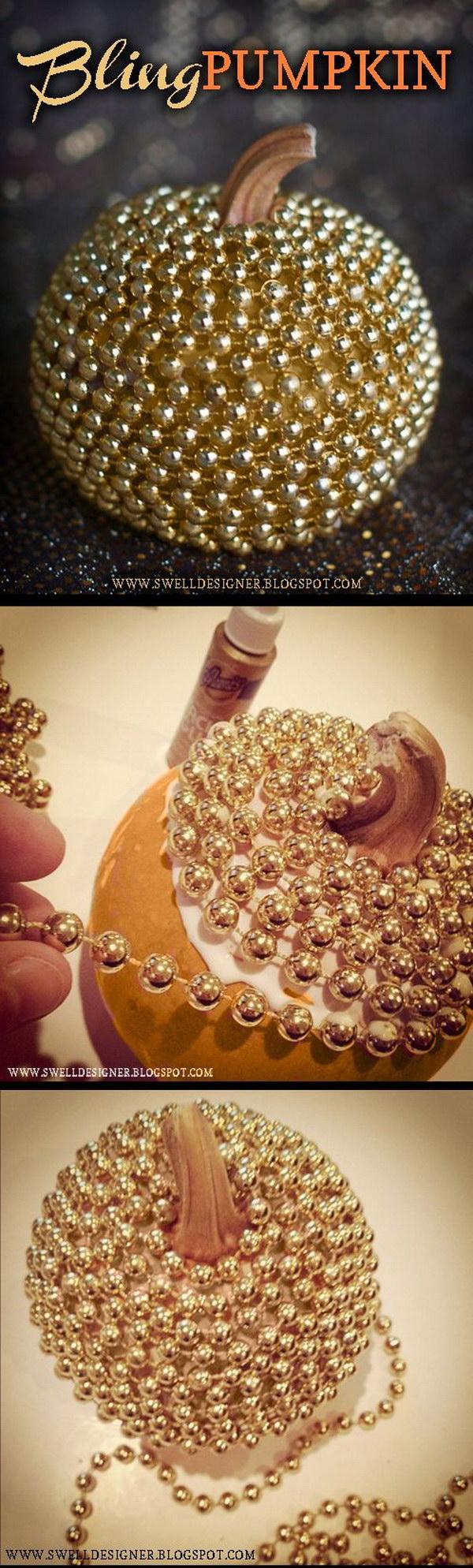 Gold Bling Pumpkin DIY.