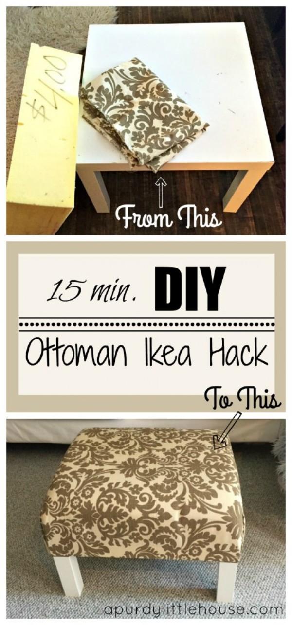 IKEA Ottoman Hack.