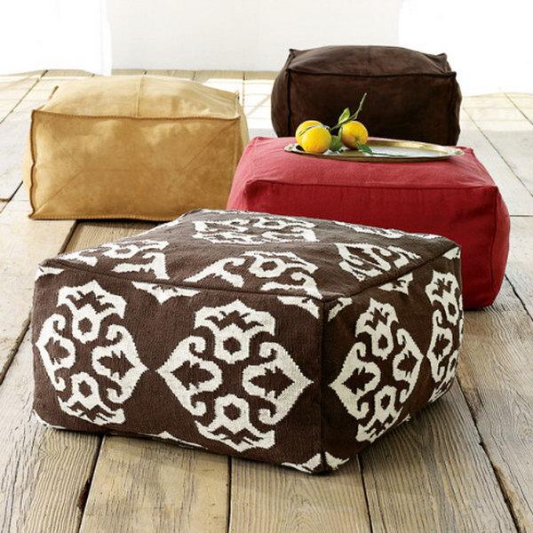 Bean Bag Cube Poufs.