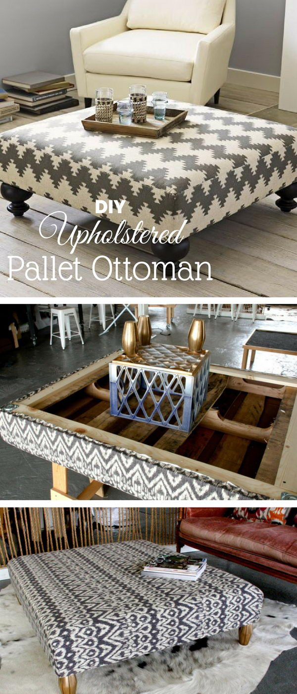 Upholstered Pallet Ottoman.
