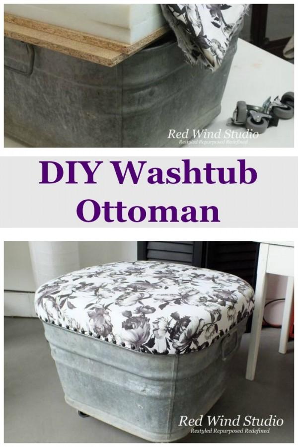 Washtub Ottoman.