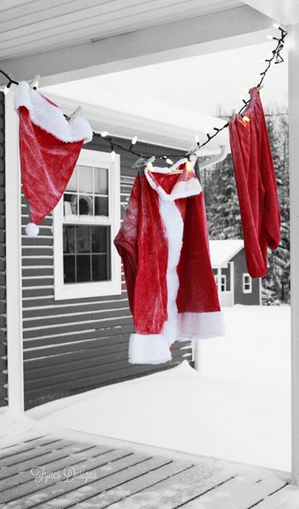 Hanging Santa Claus Suit