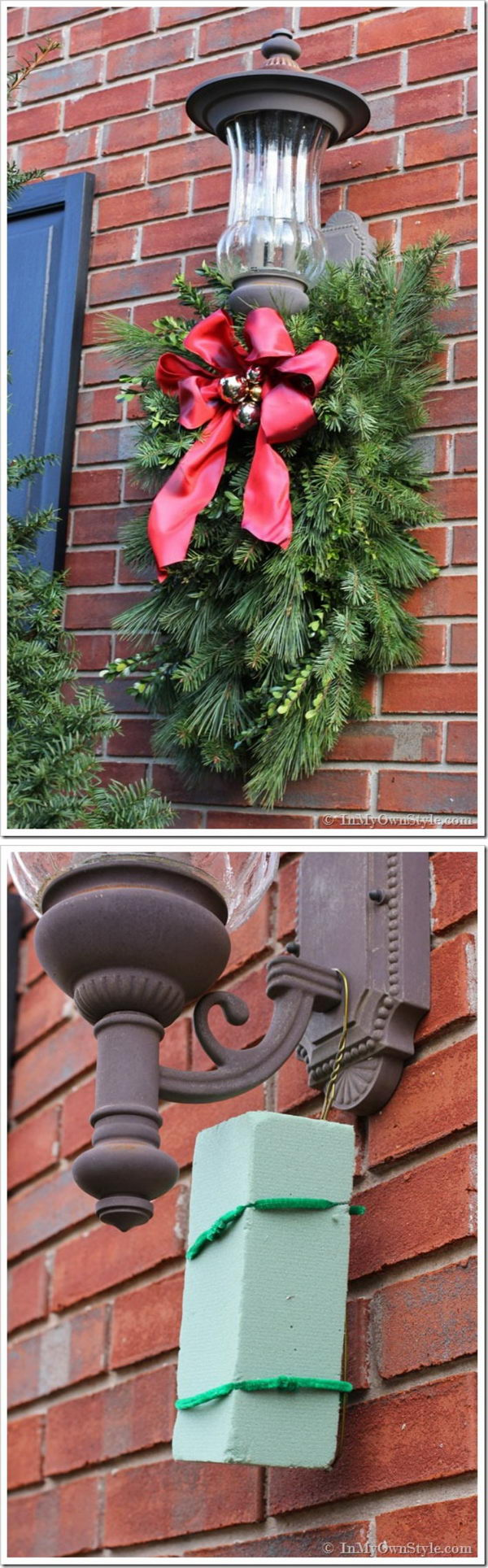 Christmas Porch Light Decoration