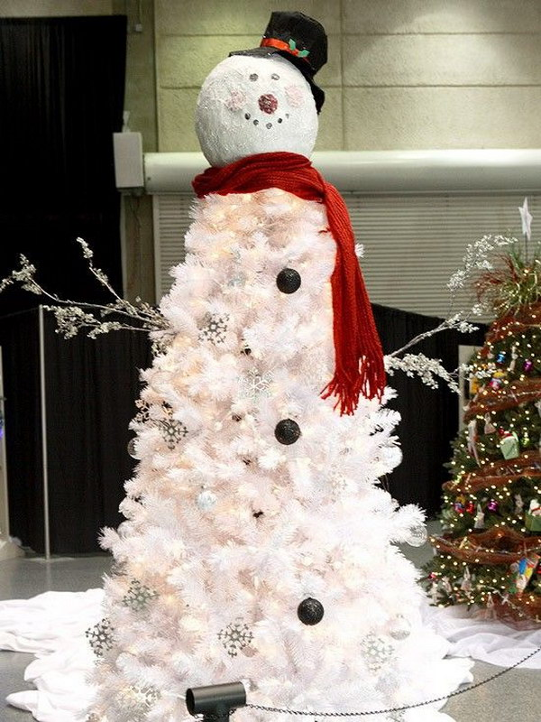 snowman christmas tree - Outdoor Snowman Christmas Decorations