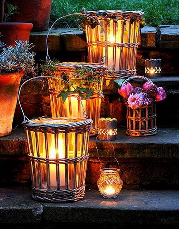 Wicker Lanterns