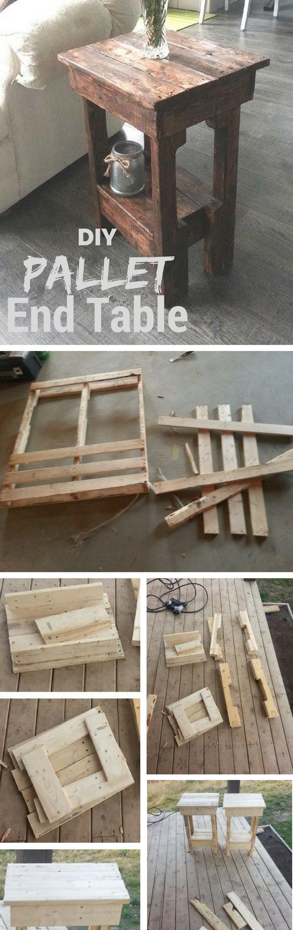 Easy Diy End Table Made From Pallet Wood