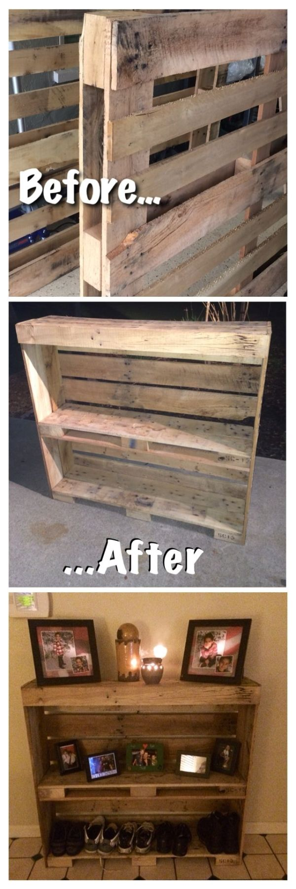 55 creative diy pallet project ideas tutorials 2017 easy pallet storage for shoes and other things solutioingenieria Image collections