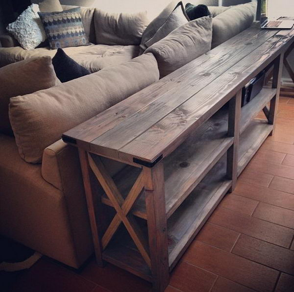DIY Sofa Table.