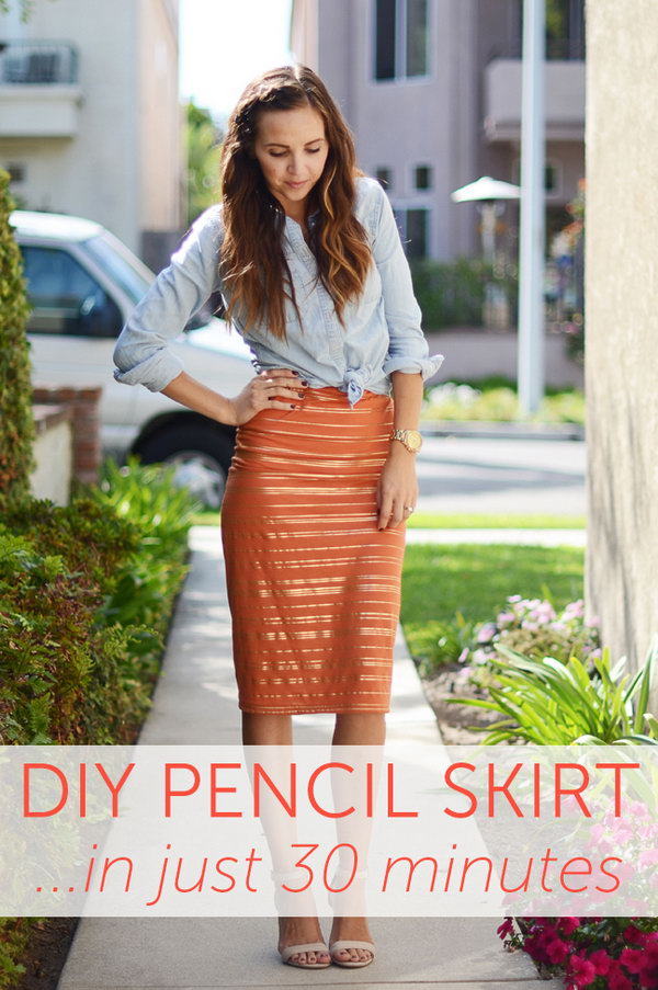 DIY Pencil Skirt In Just 30 Minutes.