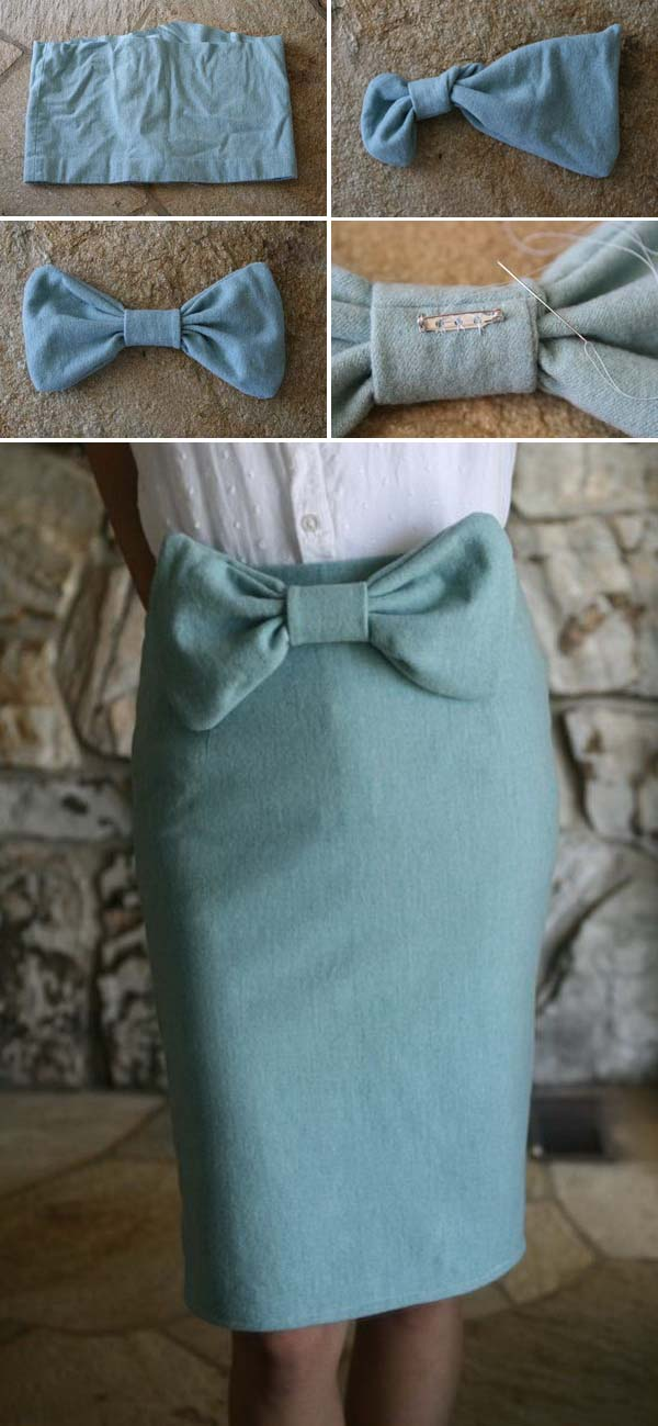 DIY Vintage Bowtie Pencil Skirt.