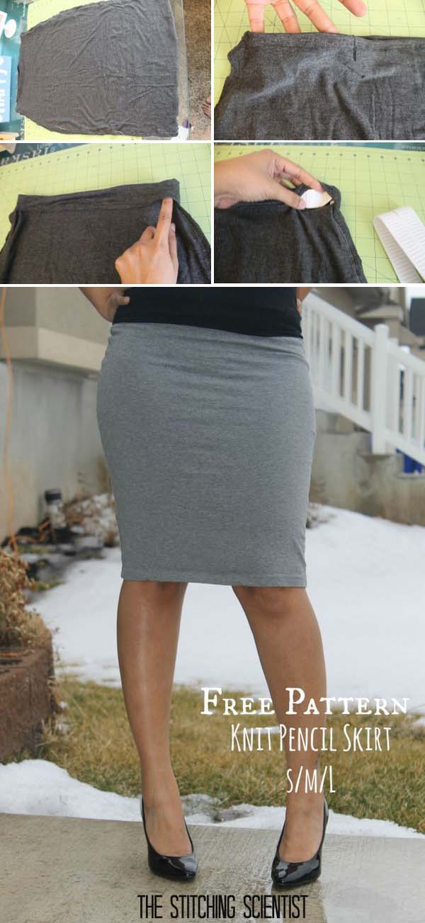 Sexy Knit Pencil Skirt.