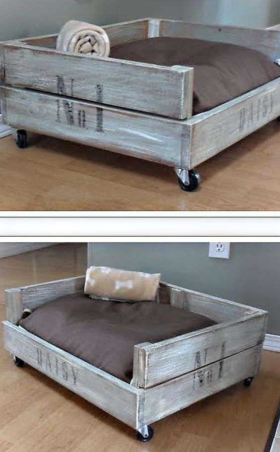 Old Crate Dog Bed.
