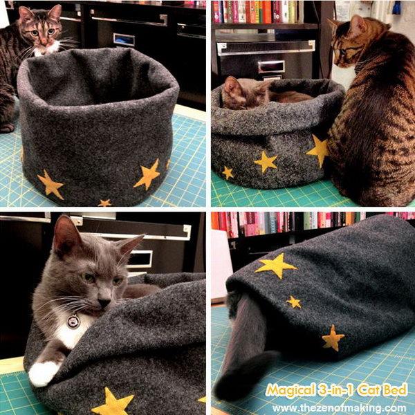 Magical 3-in-1 Cat Bed.