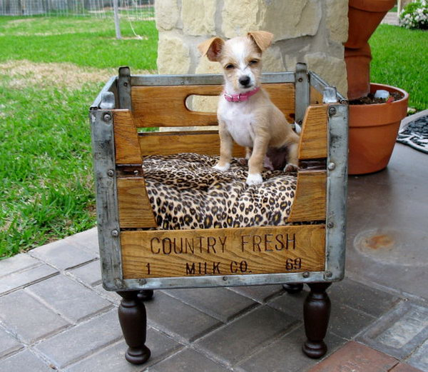 Pet Beds From Upcycled Crates.