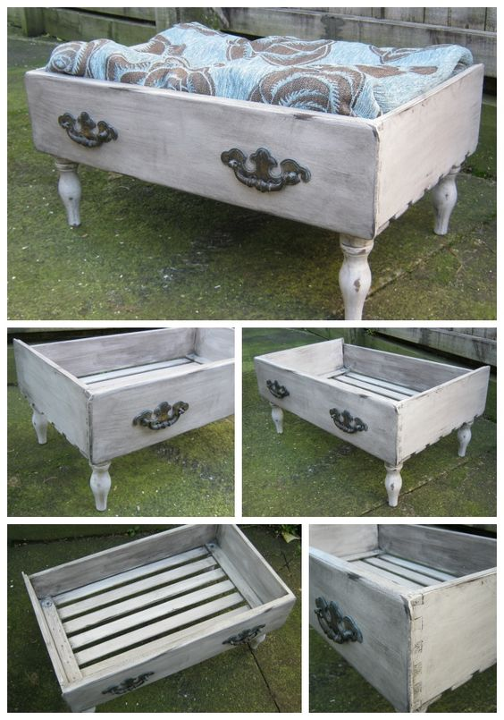 DIY Doggy Bed From Dresser Drawer.
