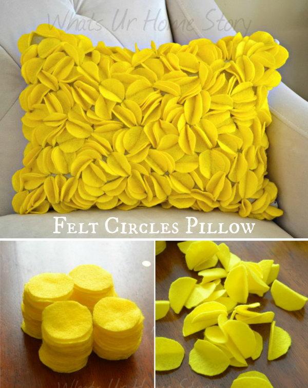 Felt Circle Pillows