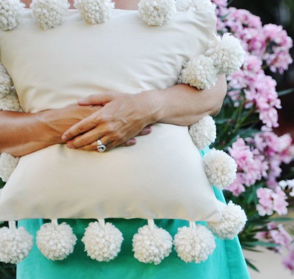 Mondo Pom Trim Pillow