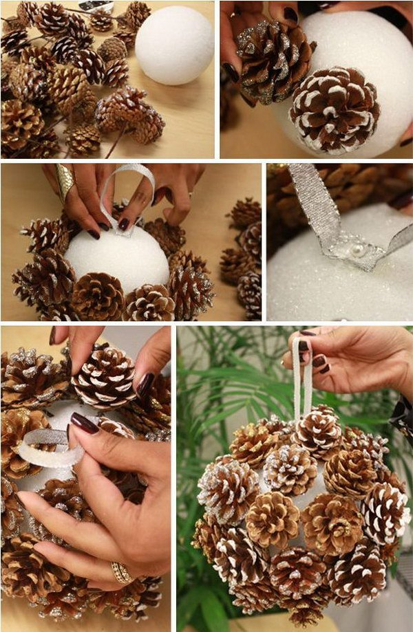 Frosted Look Pinecone Ball.