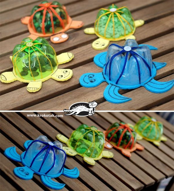 Plastic Bottle Turtle Shell Craft With Only A Few Easy To Find Materials