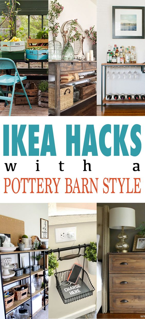 IKEA Hacks With A Pottery Barn Style.
