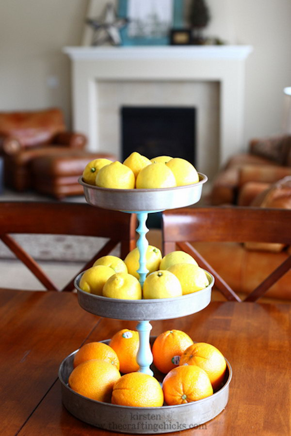 Pottery Barn Inspired DIY 3-Tiered Stand