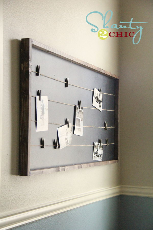 DIY String-Lined Memo Board That Costs Under $15