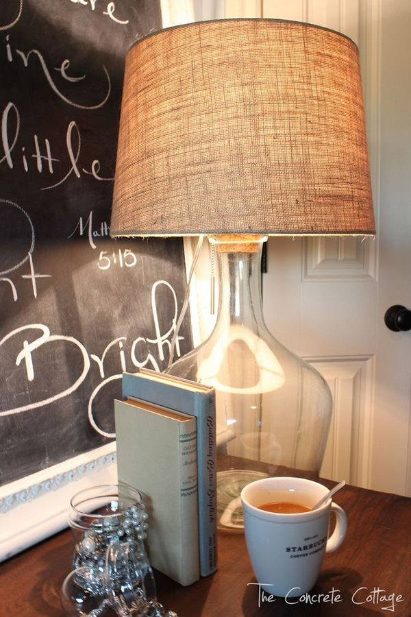 Glass Bottle Lamp - DIY Pottery Barn Knock Off