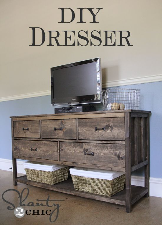 Pottery Barn Inspired DIY Dresser.