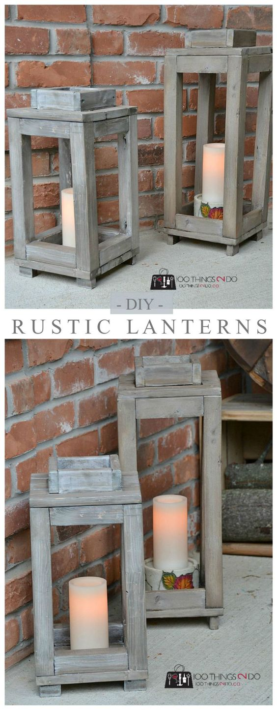 Pottery Barn Knock Off lanterns.