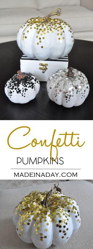 DIY Confetti Pumpkins.