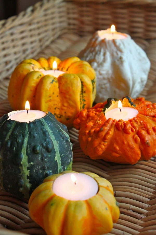 Pumpkin Candle Holders.