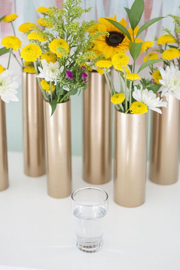 PVC Vase and Centerpiece. See the tutorial