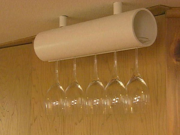 PVC Wine Glass Holder. See the tutorial