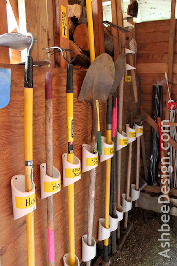 Organize Your Tools With PVC Pipe.