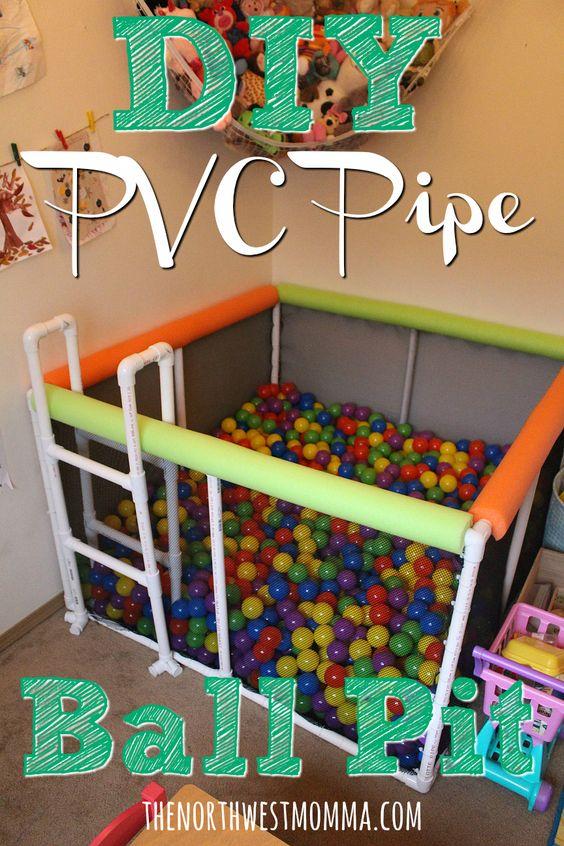 DIY PVC Pipe Ball Pit.