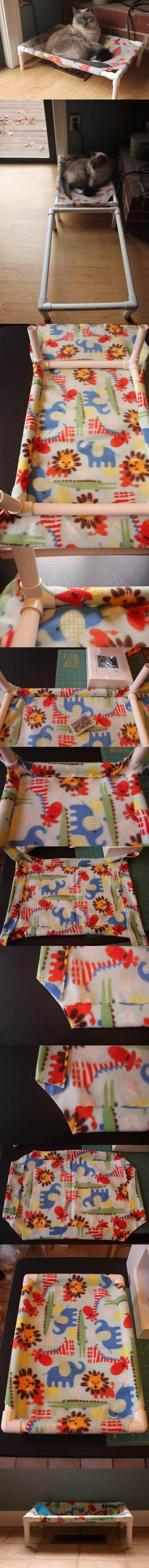 DIY PVC Pet Bed.