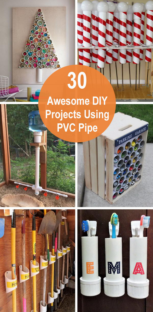 30 Awesome DIY Projects Using PVC Pipe.
