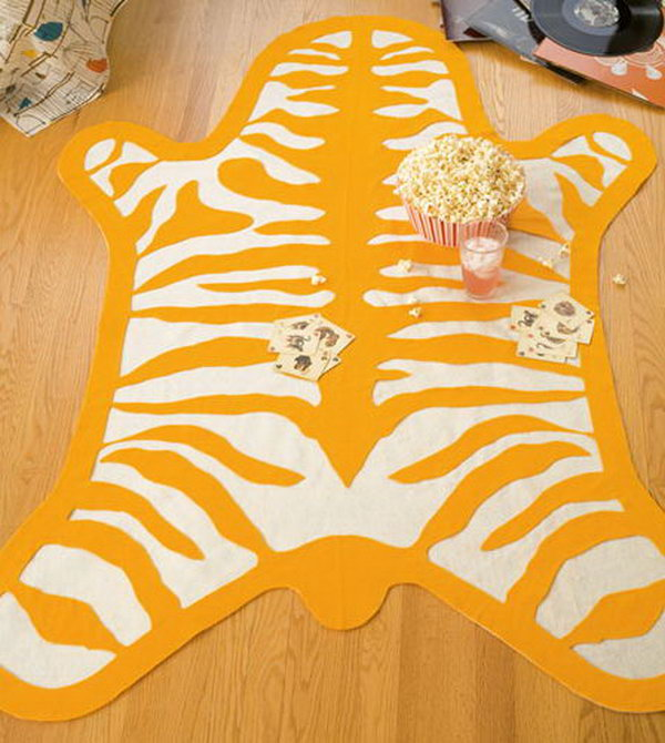 DIY Nursery Zebra Print Rug. Add a modern touch to your nursery or home with its contemporary style. Free pattern