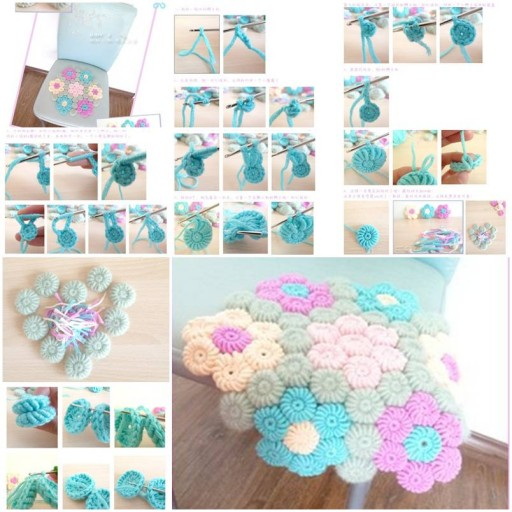 Crochet Flower Hook Rug. Look this beauty! I'm so into it.