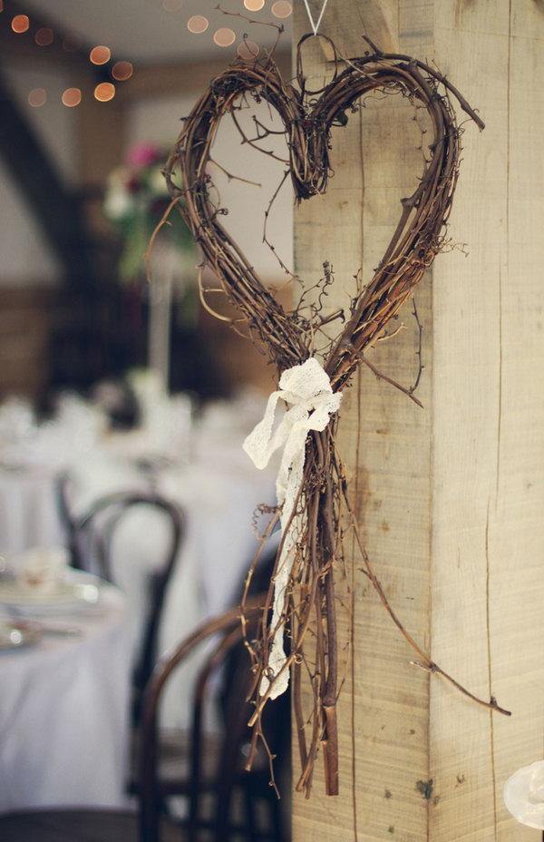 Rustic Heart Wreath Decoration.