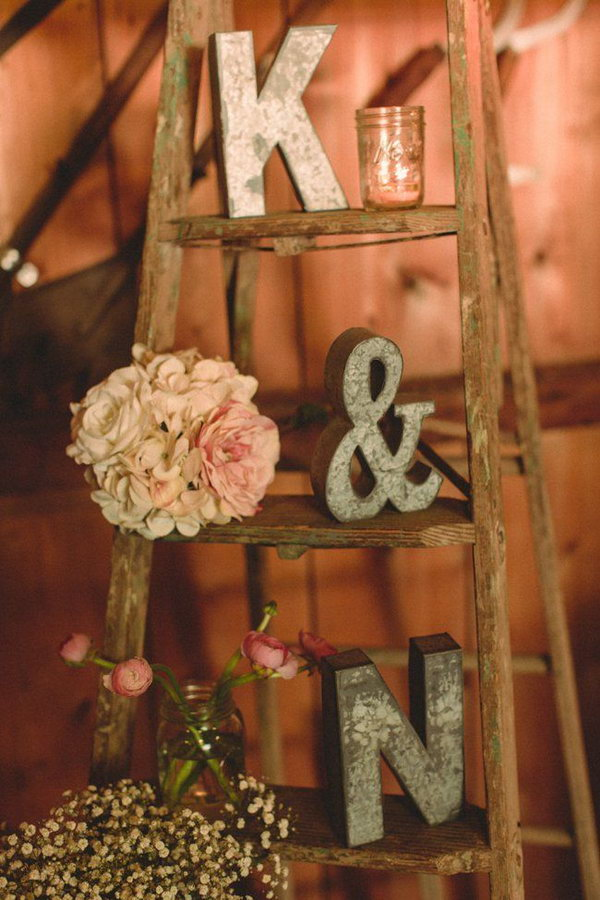 Vintage Ladder For Wedding Display.
