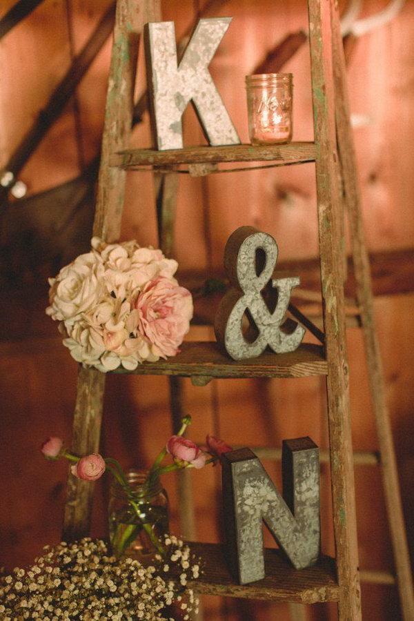 Vintage Ladder For Wedding Display.